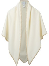 Agnona Trim Detail Scarf White