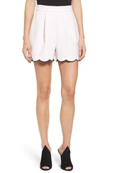 Women's Kendall Kylie Scallop Hem High Waist Shorts