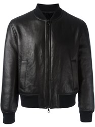 Neil Barrett Zipped Bomber Jacket Black