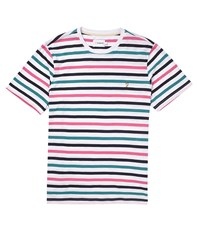 Farah Vintage Short Sleeve Crew Neck T Shirt With Stripes