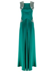 Reinaldo Lourenco Bead Embroidered Gown Green