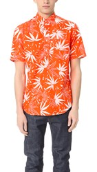 Gitman Brothers Vintage Tang Archive Print Short Sleeve Popover