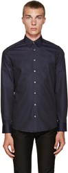 Tiger Of Sweden Navy Pin Dot Shirt