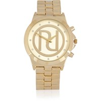 River Island Womens Gold Tone Ri Chunky Watch