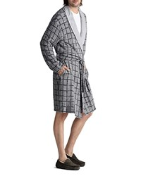 Ugg Hugh Windowpane Check Robe Gray Navy