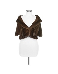 Forzieri Brown Mink Fur Front Pockets Cape