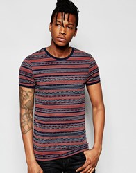Asos Muscle T Shirt With Washed Out Geo Tribal Print Black Iris