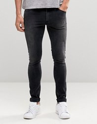 Asos Extreme Super Skinny Jeans In Washed Black Washed Black