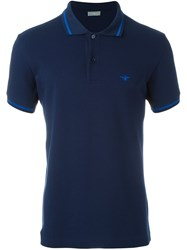 Christian Dior Homme Embroidered Bee Polo Shirt Blue