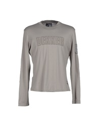 Dekker T Shirts Light Grey
