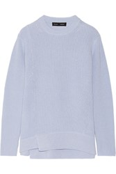 Proenza Schouler Oversized Cotton And Cashmere Blend Sweater Blue