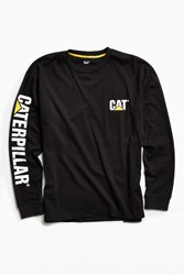 Urban Outfitters Cat Trademark Banner Long Sleeve Tee Black