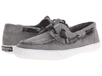 Sperry Sayel Away Washed Grey Women's Moccasin Shoes Gray