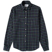 Portuguese Flannel Estilete Check Shirt Blue