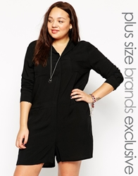 Alice And You Clean Utility Playsuit Black