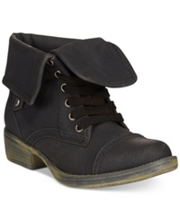 Rocket Dog Taylor Foldover Booties Women's Shoes Black Brave
