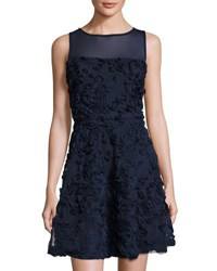Label By 5Twelve Fit And Flare Rosette Dress Navy