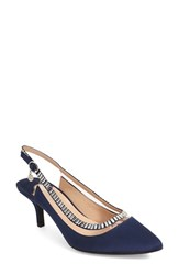 J. Renee Women's J.Renee 'Ellyn' Embellished Slingback Pump Navy