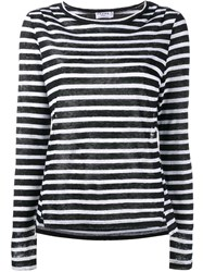Frame Denim Striped T Shirt Black