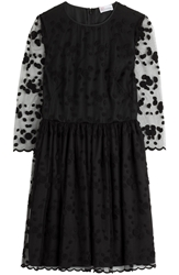 Red Valentino Embroidered Dress With Tulle