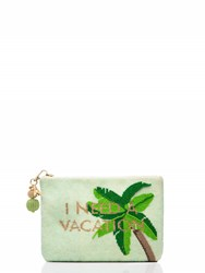 Kate Spade On Purpose Palm Tree Beaded Pouch