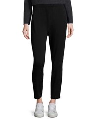 Eileen Fisher Elastic Waist Ankle Length Pants Black