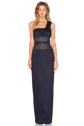 By Johnny Mesh Panel Sharpened Gown Navy