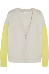 Duffy Two Tone Cashmere Cardigan Gray