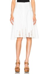Tanya Taylor Harlow Skirt In White