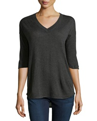 Atm V Neck Pullover Sweater Charcoal