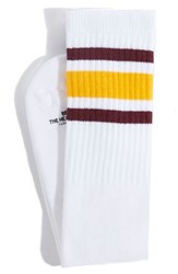Men's Bedwin And The Heartbreakers 'Larry' Knee High Tube Socks Yellow White Yellow