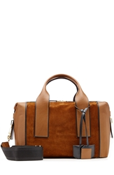 Pierre Hardy Duffle Medium Leather And Suede Tote