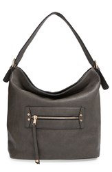 Sole Society 'Karine' Slouchy Faux Leather Hobo Grey
