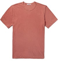 James Perse Slim Fit Cotton Jersey T Shirt Brick