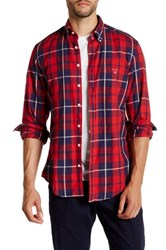 Gant Oxford Madras Check Long Sleeve Regular Fit Shirt Red