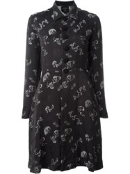 Jean Paul Gaultier Vintage Jacquard Shirt Dress Black