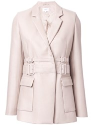 Carven Double Belted Jacket Nude Neutrals