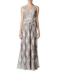 Erin Fetherston Lace Belted Peplum Gown Potpourri
