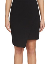 1.State Asymmetrical Cross Front Skirt Black