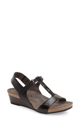 Naot Footwear Women's Naot 'Unicorn' T Strap Sandal Black Raven Luster Leather