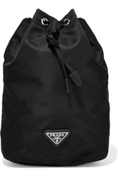 Prada Shell Drawstring Cosmetics Case Black