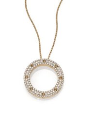 Roberto Coin Pois Moi Diamond And 18K Yellow Gold Circle Pendant Necklace