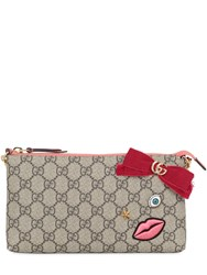 Gucci Circus Embroidered Gg Supreme Clutch