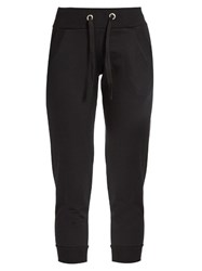 Pepper And Mayne Signature Cropped Cotton Jersey Sweatpants Black