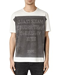 Allsaints Loud Tee Chalk White