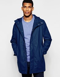 United Colors Of Benetton Waxed Parka Blue