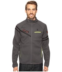 Spyder Alps Full Mid Weight Core Sweater Polar Bryte Yellow Men's Sweater Brown