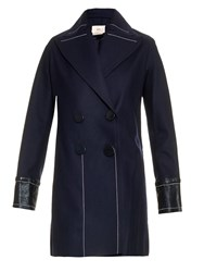 Edun Stitch Detail Wool And Alpaca Blend Coat