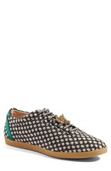Gucci Men's 'Bambi Dot' Woven Sneaker With Genuine Snakeskin Detail