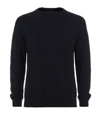 Alexander Mcqueen Chunky Cable Knit Male Black